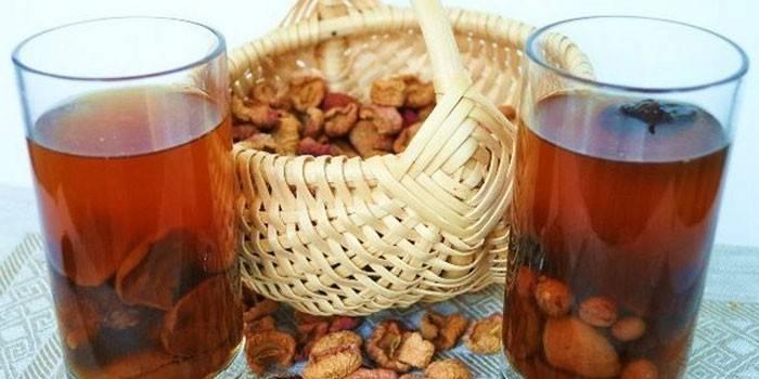 Компот при грудном вскармливании из сушеных яблок и свежих: разрешен ли напиток кормящей маме, можно ли его употреблять в первые недели гв новорожденного?