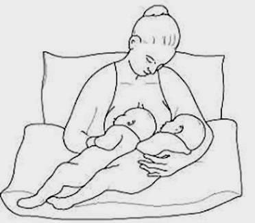 Как кормить грудью двойню: какие позы есть, чтобы одновременно дети получали молоко, а также как наладить гв?
