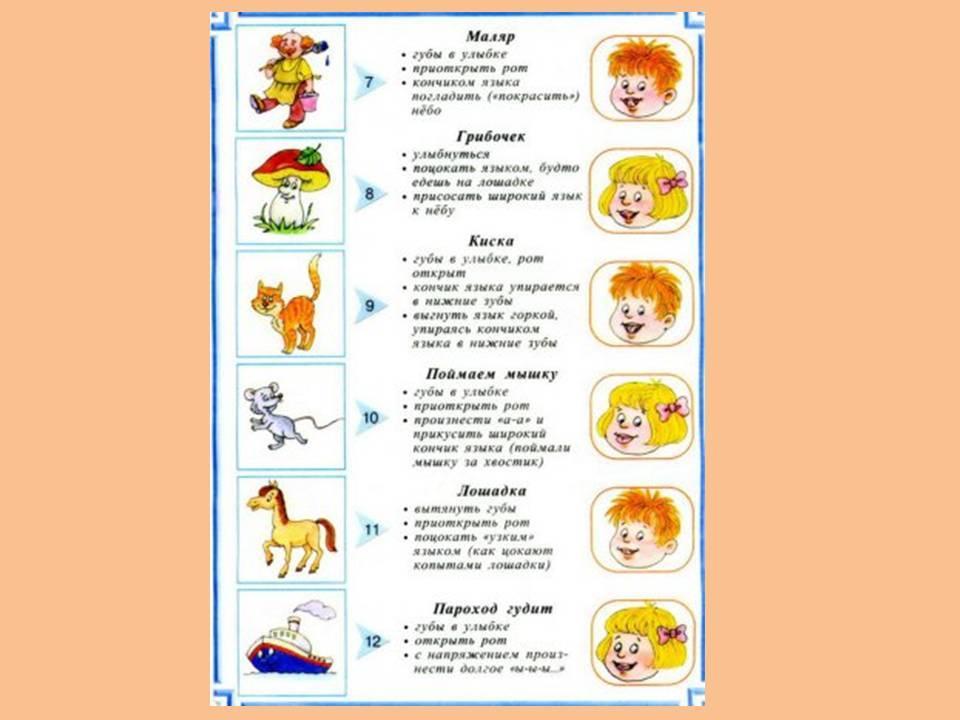 Артикуляционная гимнастика для детей 2-3, 4-5 лет: логопедические упражнения   konstruktor-diety.ru
