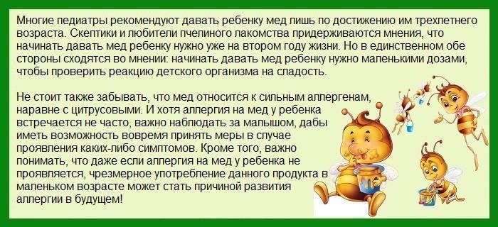 Как проявляется аллергия от меда у ребенка