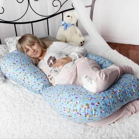 Как спать на подушке для беременных: выбор правильной позы