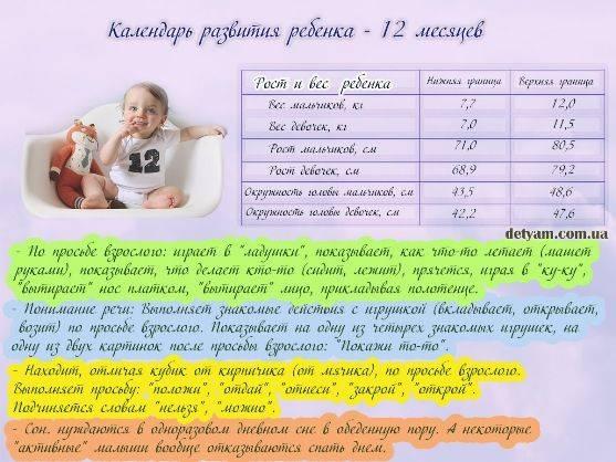 Развитие новорожденного ребенка первого года жизни