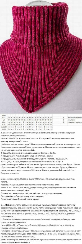Описание вязания моей манишки - страна мам