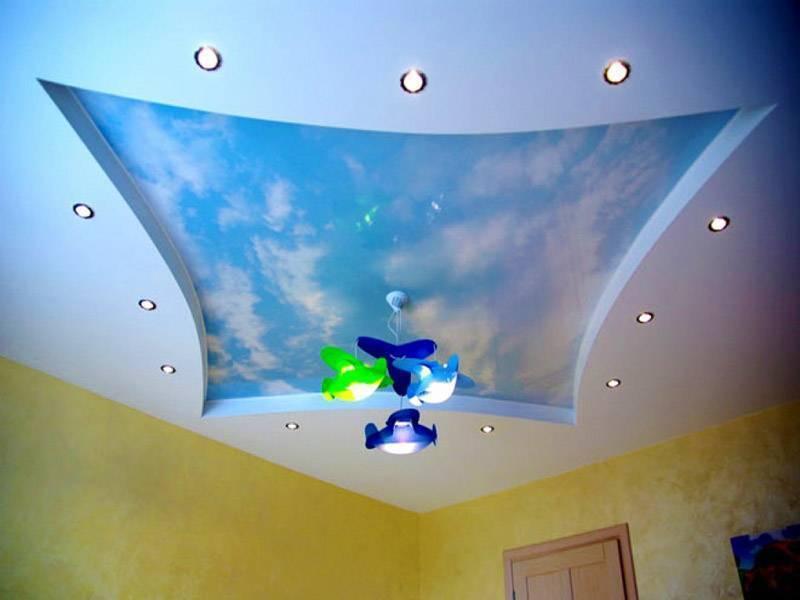 Потолок в детской комнате (47 фото): дизайн со звездным небом для подростка, какой лучше сделать рисунок фотопечати для девочки