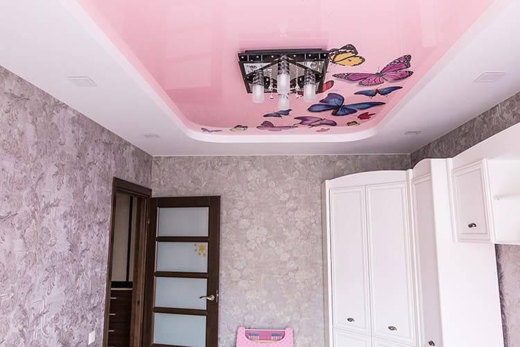 Оригинальные варианты дизайна натяжных потолков