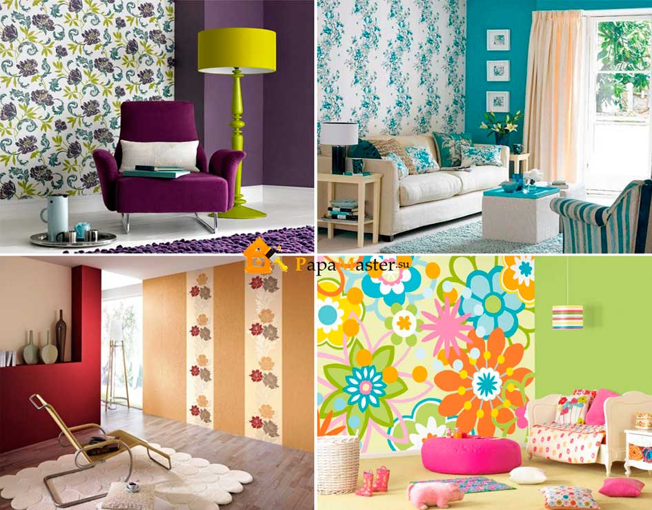 Как скомбинировать обои в детской? 37 фото: комбинирование варианты для детской, идеи для комнат мальчиков и девочек