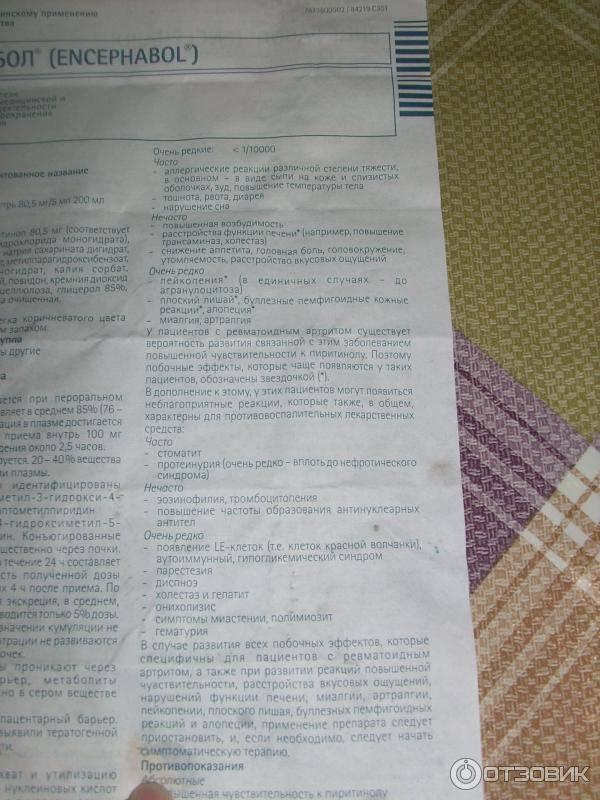 Энцефабол  в санкт-петербурге - инструкция по применению, описание, отзывы пациентов и врачей, аналоги