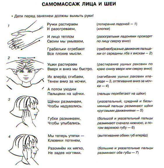 Техника проведения логопедического массажа